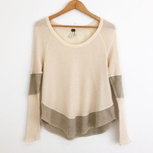 Free People We The Free Cream Thermal Sweater